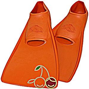 SwimSafe оригинал Ласты детские каучуковые для бассейна размер 30-33 оранжевые СВИМСЕЙФ – Германия